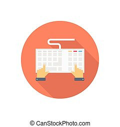 typing  flat color icon
