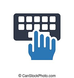 typing glyph color icon