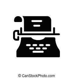 typing glyph flat icon