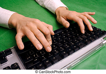 typing hands 1