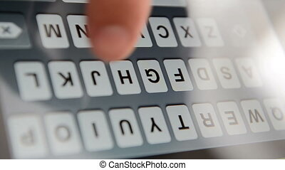 Typing on a virtual keyboard