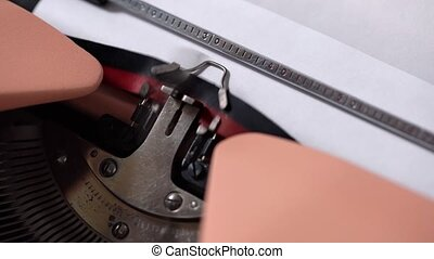 Typing on retro typewriter - Retro typewriter is printing a...
