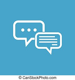 Typing text in dialogue symbol - Image of two message clouds...
