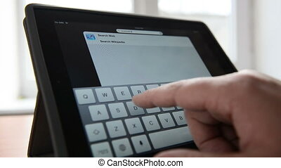 Typing text on a virtual keyboard of tablet pc