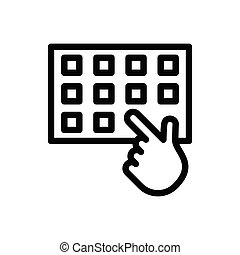 typing thin line icon