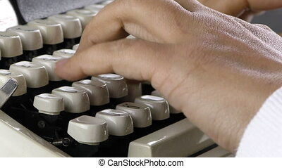 Typing to Typewriter Vintage