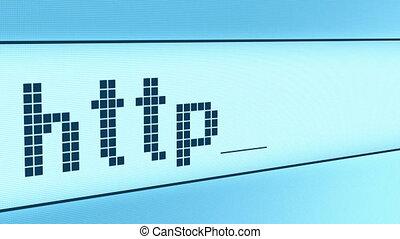 Typing www http address
