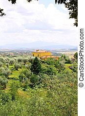 typique, paysage, italien