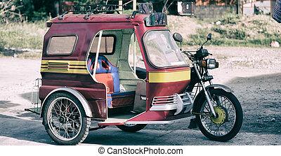 typisch, motorrad, asia, philipphines