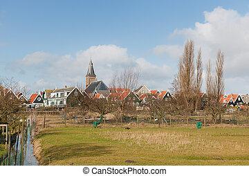 typisch, niederländisch, dorf
