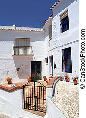 typisch, straat, andalusia, spanje, stad, mooi, witte