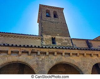 typisk, norr, spanien, kyrka