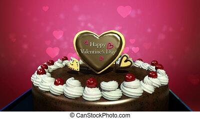 Typo 'Happy Valentines Day' on cake.