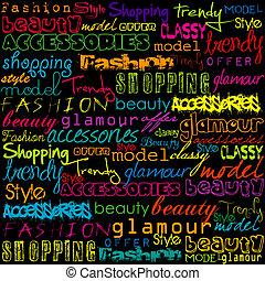 typoghraphy, ファッション, 有色人種, 言葉