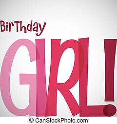Typographic Birthday card in vector format.