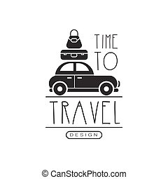 Typographic design logo for tourist agency