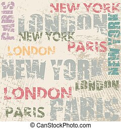 Typographic poster design with city