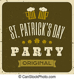 Vintage typographic style St. Patrick's Day greeting card.