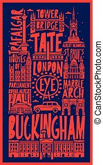 typographic vector touristic hand drawn istanbul city poster