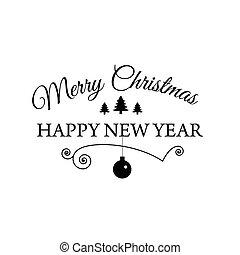 typographical, cartaz, para, feliz natal