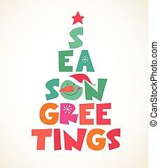 Typographical Christmas tree