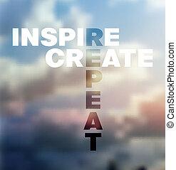 typographical, citation, fond, vecteur, design.