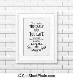 typographical, poster., 健康, quote.