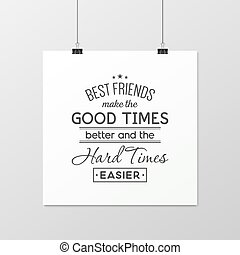 typographical, poster., amistad, quote.