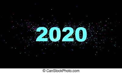 typographie, conception, beau, heading., magie, 2020
