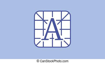 typographie, ligne, icône, canal alpha
