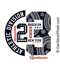 Typography Athletic NYC 23 typographic design with a...