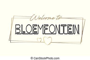 typography., baner, text, textning, vykort, bloemfontein, ...