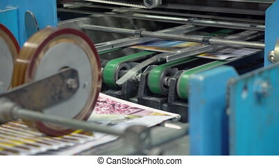 typography equipment in press house - printing press prints...
