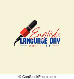 English Language Day - Typography for English Language Day ...
