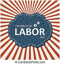 Typography Happy Labor Day, September 4th, United state of America, American Labor day design. Beautiful USA flag Composition. Labor Day poster design. Red and White Line Background