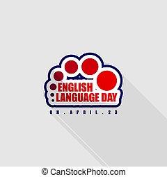 Typography logo for English Language Day vector Illustration...