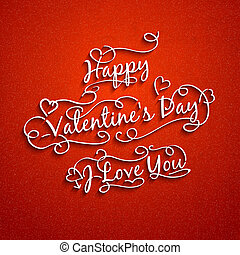 typography., mariage, valentine, ensemble