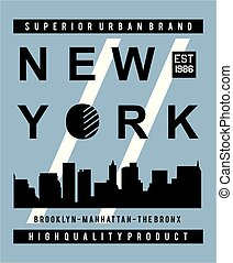 typography new york city skyline