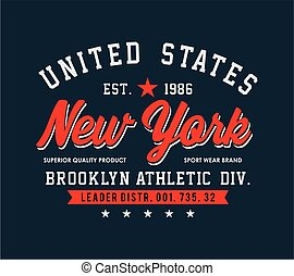 Typography New York For T-shirt Print