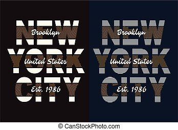 Typography NYC 1986 - New York City Typography design with a...