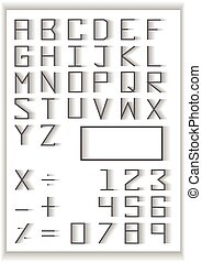 typography set . blend fade design typography number and math symbols