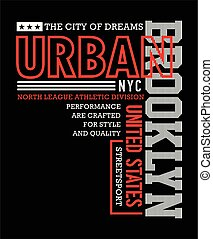 Typography sport Brooklyn for t-shirt graphic