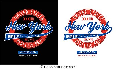 Typography sport New York for t-shirt print