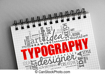 TYPOGRAPHY word cloud collage, creative concept background