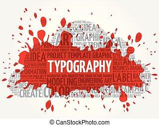TYPOGRAPHY word cloud