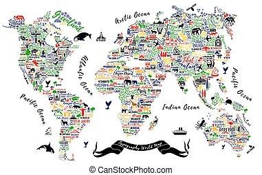 typography world map