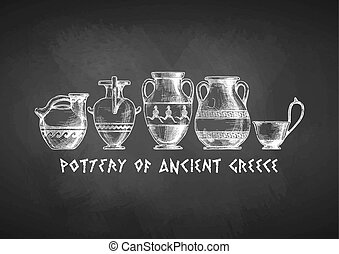 Typology of Greek vase shapes. - Pottery of ancient Greece. ...
