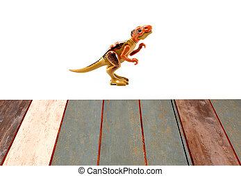 tyrannosaurus の rex, -, 恐竜, t-rex, 上に, ∥, 白い背景