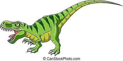 tyrannosaurus, biały, rysunek, tło, dinozaur