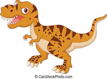 Tyrannosaurus cartoon - Vector illustration of Tyrannosaurus...